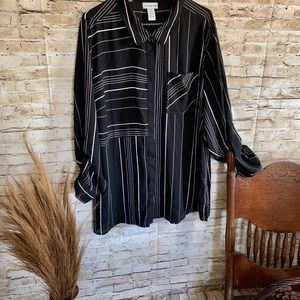 Catherine's Button up QualityBlouse Size 2x